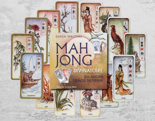Cartes de l'Oracle du Mahjong.